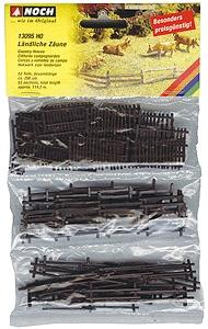 Noch Rural Fences HO Scale Model Railroad Accessory #13095