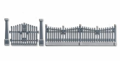 Noch Residential Fence w/Gate & Posts HO Scale Model Railroad Accessory #13100