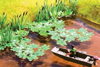 Noch GMBH & Co. Water Lilies Kit -- Model Railroad Accessory -- #14114