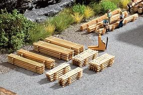 Noch Fresh-Cut Lumber Drying Pile Kit (8) HO Scale Model Railroad Acessorry #14214