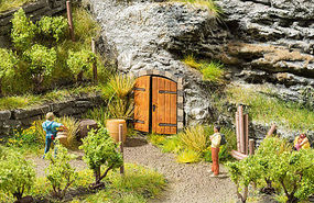 Noch Rock Cellar (Cave) Doors Kit HO Scale Model Railroad Accessory #14225