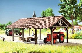 Noch Open-Air/Wall Storage Shelter Kit HO Scale Model Building #14350