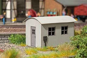 Noch Corrugated Metal Shed w/Arched Roof Kit HO Scale Model Railroad Accessory #14354