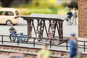 Noch Covered Bicycle Stand/Rack HO Scale Model Railroad Accessory #14356