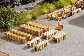 Noch Wood Plank Piles Kit (8) N Scale Model Railroad Accessory #14628