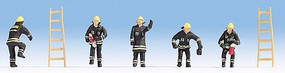 Noch Fire Brigade Black HO Scale Model Railroad Figure #15021