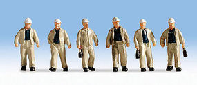 Noch Miners pkg(6) HO Scale Model Railroad Figure #15042