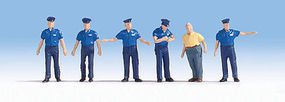 Noch Swiss Traffic Policemen (6) HO Scale Model Railroad Figure #15073