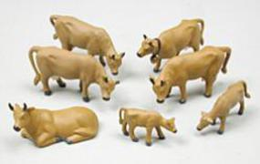 Noch Brown Cows HO Scale Model Railroad Figure #15720