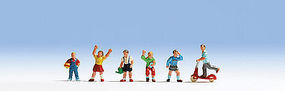 Noch Children Playing (6) HO Scale Model Railroad Figure #15815