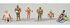 Noch Recreation Beach Goers HO Scale Model Railroad Figure #15850