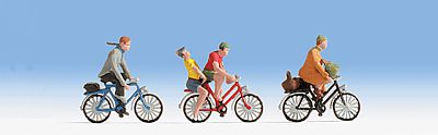 Noch Cyclists HO Scale Model Railroad Figure #15898