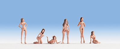 Noch Nude Women Models HO Scale Model Railroad Figure #15958