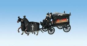Noch Horse-Drawn Wagon Hearse HO Scale Model Figures #16714