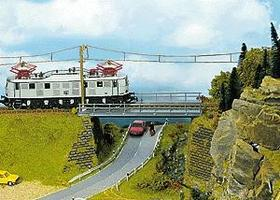 Noch Straight Steel Bridge HO Scale Model Railroad Bridge #21340