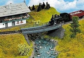 Noch Curved Steel Bridge HO Scale Model Bridge #21350