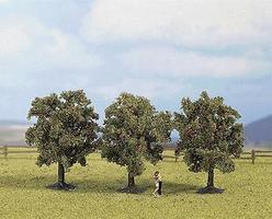 Noch 3 Green Apple Trees (8cm) Model Railroad Tree #25113