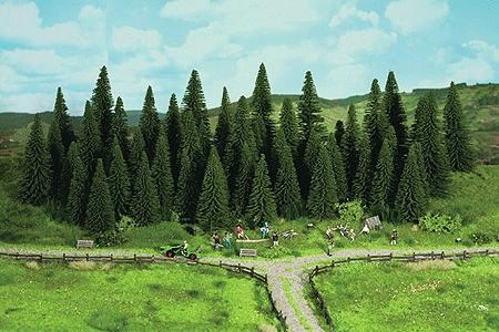 Noch GMBH & Co. Fir Trees pkg(25) -- N Scale Model Railroad Tree -- #32530