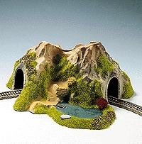 Noch GMBH & Co. Single Track Curved Tunnel w/Lake -- N Scale Model Railroad Tunnel -- #34660