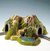 Noch Single Track Curved Tunnel w/Lake N Scale Model Railroad Tunnel #34660