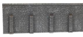 Noch Extra Long Retaining Wall (Gray Brick) N Scale Model Railroad Accessory #34857