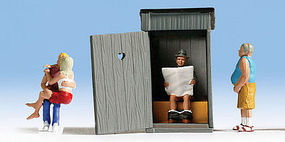 Noch Toilet Stories N Scale Model Railroad Figure #36560