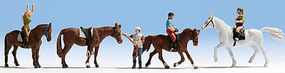 Noch Riders w/ Horses N Scale Model Railroad Figure #36630