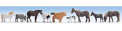 N Gauge Ready Painted Figures Set Noch 36713 Farm Animals