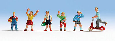 Noch Children Playing Misc Scale Model Railroad Figure #45815