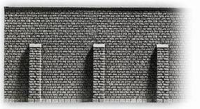 Noch Gray Brick Retaining Wall (33.5 x 12.5cm) HO Scale Model Accessory #58056