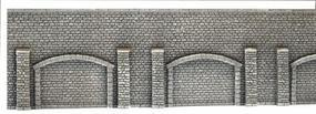 Noch Extra Long Gray Brick Arcade Wall (67 x 12.5cm) HO Scale Model Accessory #58059
