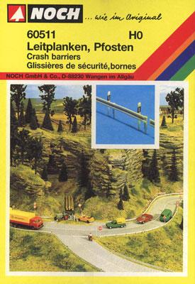 Noch GMBH & Co. Crash Barriers -- HO Scale Model Railroad Road Accessory -- #60511