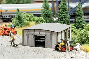 Noch Corrugated Metal Shed/Garage w/Round Roof Kit HO Scale Model Building #66107
