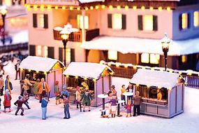 Noch Christmas Market Stall Kit HO Scale Model Building #66412