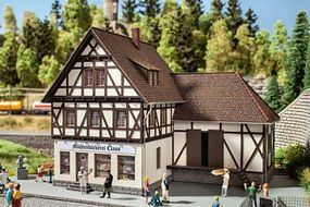 Noch Half-Timber Mill Bakery w/Motorized Water Wheel Kit HO Scale Model Building #66504