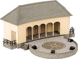 Noch Open Stage with Rock Band Scene HO Scale Model Railroad Building #66825