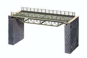 Noch Straight Steel Deck Truss Bridge Kit (7-1/16) HO Scale Model Railroad Bridge #67024