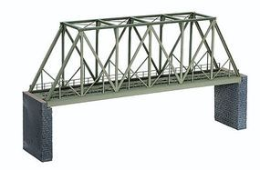 Noch Steel Through Truss Bridge Kit (14-3/16) HO Scale Model Railroad Bridge #67029