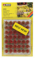 Noch Grass Tufts XL Red Blooming Flowers (42) Model Railroad Grass Earth #7025