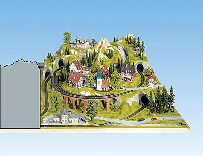 Noch GMBH & Co. Right Extension For Large Landscape Layout -- HO Scale Model Railroad Scenery -- #80150