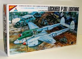 Nichimo P38L Lightning Aircraft Plastic Model Airplane Kit 1/48 Scale #4810