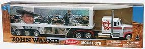 New-Ray John Wayne Long Hauler White Cab Diecast Model Truck 1/32 scale #10443