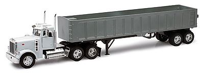 New Ray Toys Peterbilt 379 w/Framelless Dump Trailer -- Diecast Model Truck -- 1/32 scale -- #10543