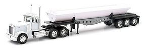 New-Ray Peterbilt 379 w/Side Dump Trailer Diecast Model Truck 1/32 scale #10553