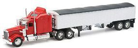 New-Ray 1979 Kenworth W900 w/Grain Hauler Trailer 1/32 Scale Diecast Model Truck #10773