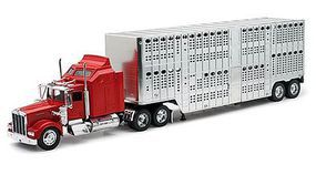 New-Ray 1/32 Kenworth W900 w/Pot Belly Livestock Trailer (Die Cast)