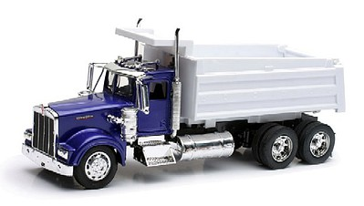 New Ray Toys 1/32 Kenworth W900 Dump Truck (Blue) (Die Cast)