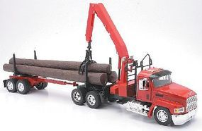 New-Ray Mack CH w/Log Hauler Trailer Diecast Model Truck 1/32 scale #13133
