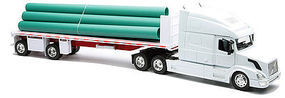 New-Ray Volvo VN780 w/Flatbed Trailer & Pipe Load Diecast Model Truck 1/32 scale #14223