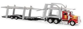 New-Ray Kenworth W900 w/Dbl Decker Auto Carrier Diecast Model Truck 1/43 Scale #15213